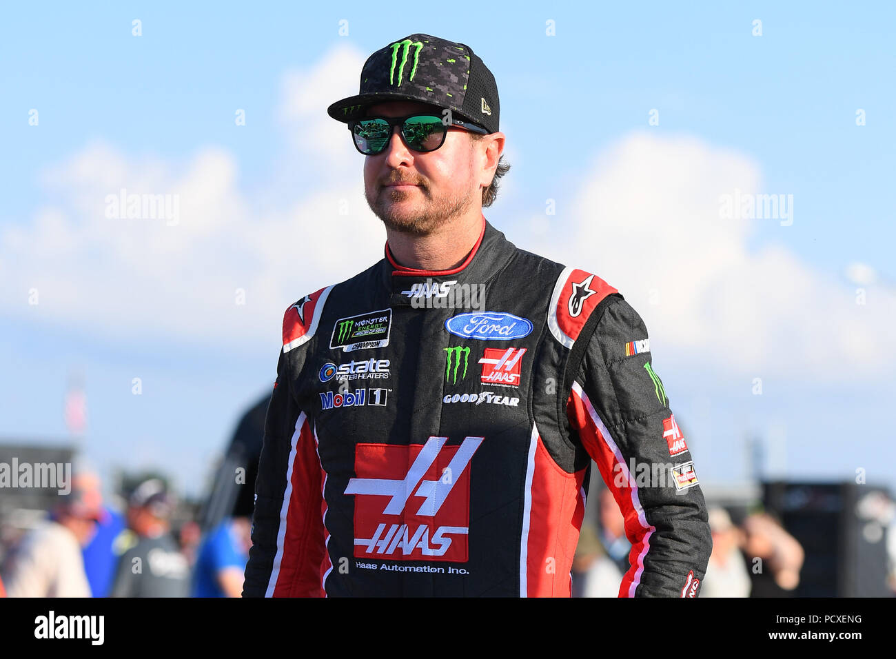 bcdfe230d8 August 5, 2018: Monster Energy NASCAR Cup Series driver Kurt Busch #41  prior to qualifying Monster ...