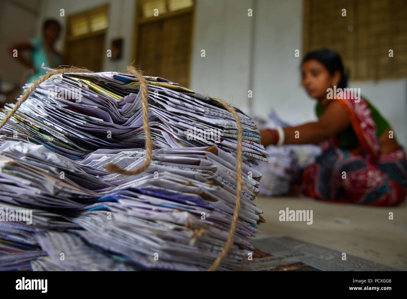 Agartala Tripura India 3rd Aug 2018 A Indian Worker Seen Making