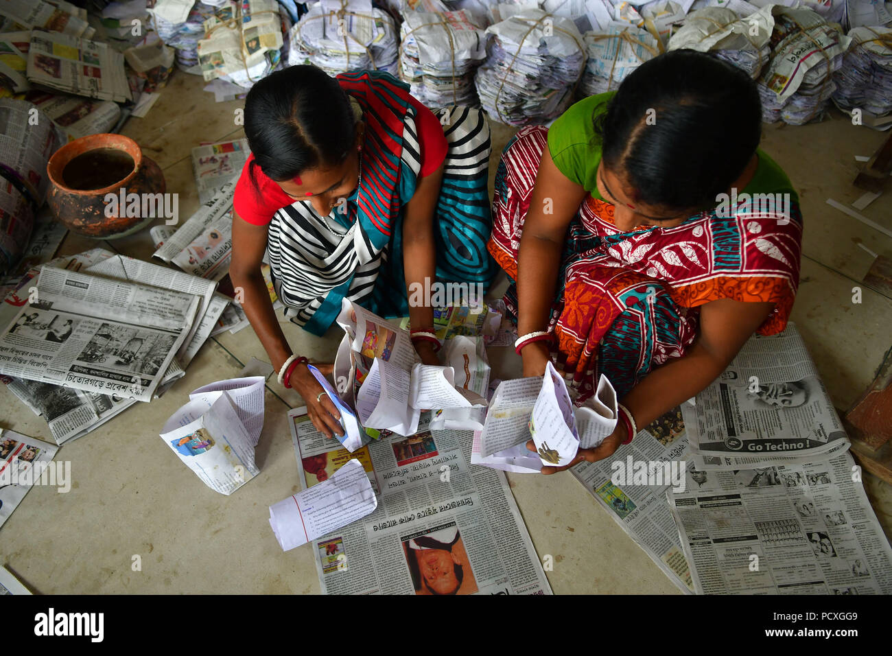 Agartala Tripura India 3rd Aug 2018 Indian Workers Seen Making