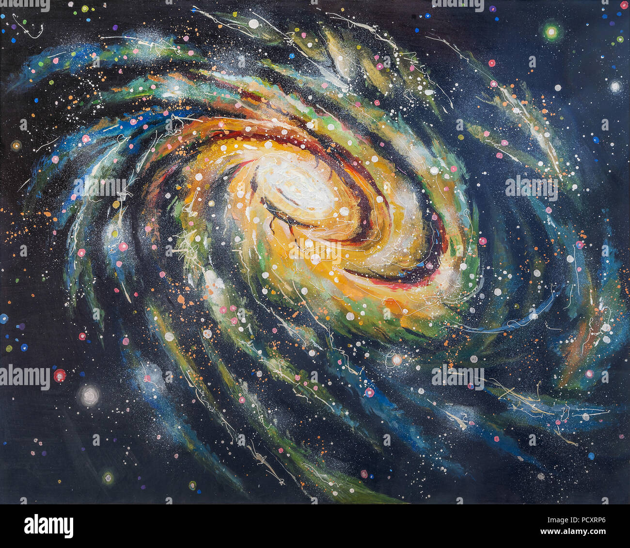 spiral galaxy painting stock photos spiral galaxy painting stock