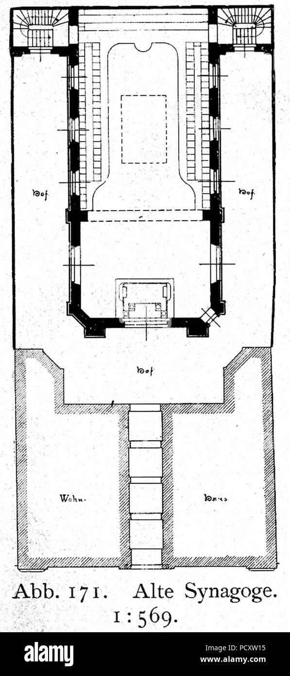 Grundriss Synagoge