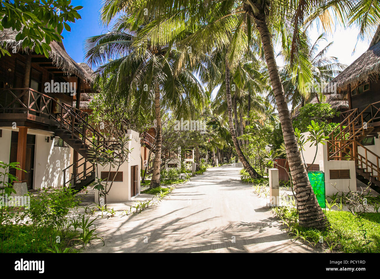 2017: Luxurious Houses In A Natural Setting On Olhuveli Island On Jan 10,  2018. Maldives.