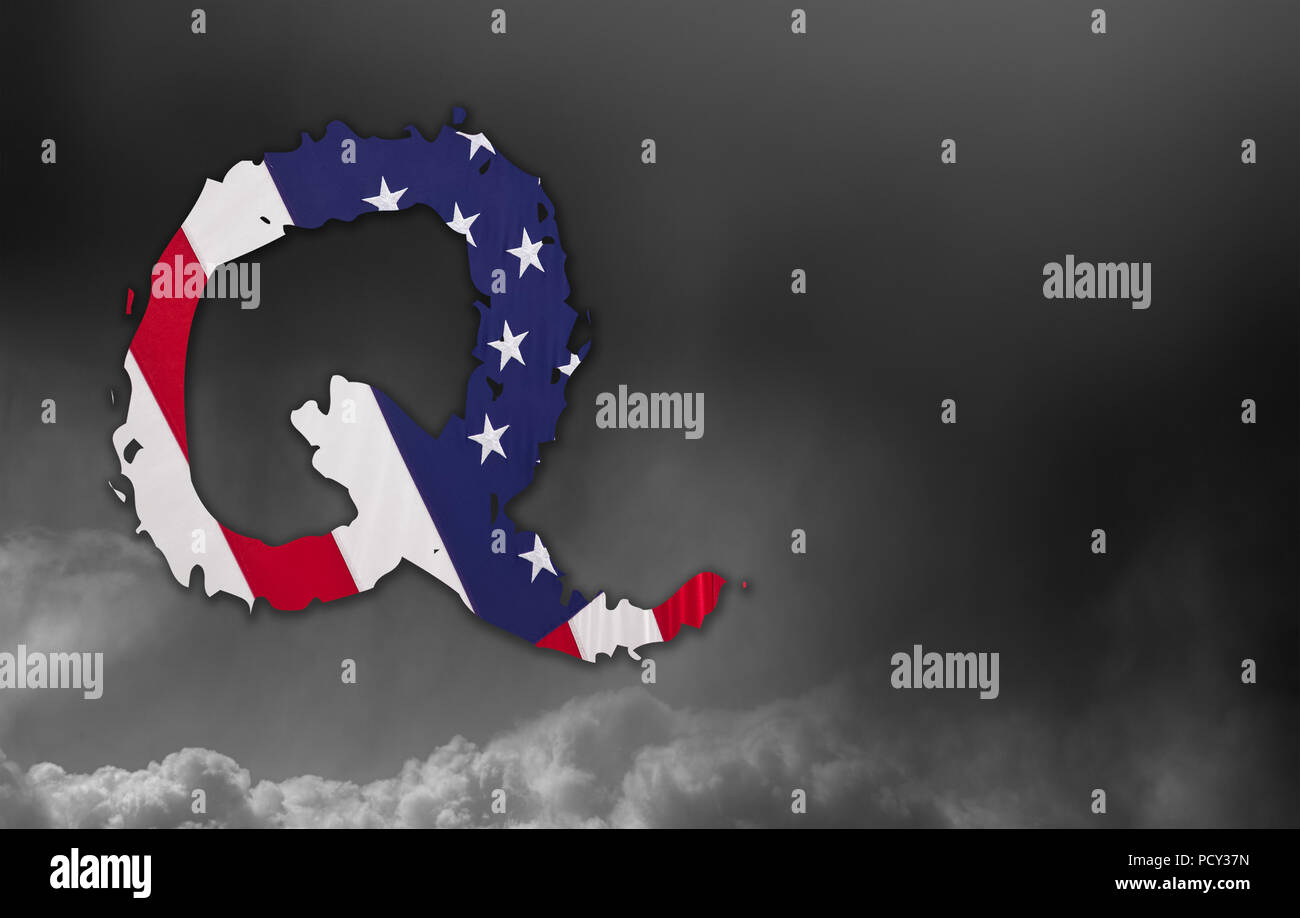 Q Anon deep state conspiracy concept - Stock Image