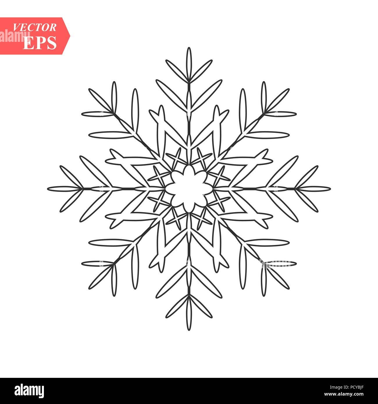 Snowflake Icon Vector Snowflake Sign Isolated Snowflake Symbol
