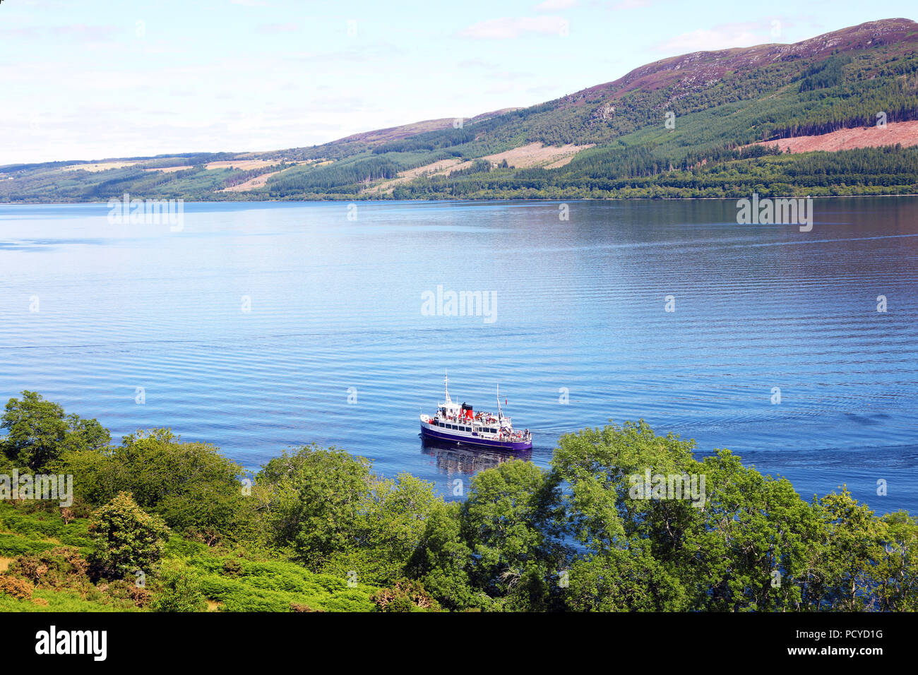 Loch Ness in the Scottish Highlands, Scotland - Stock Image