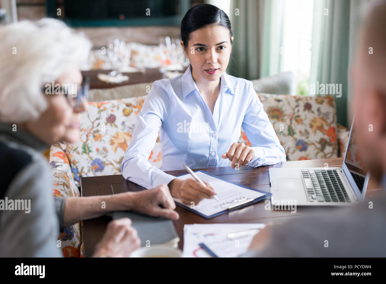 Businesswoman at meeting - Stock Image