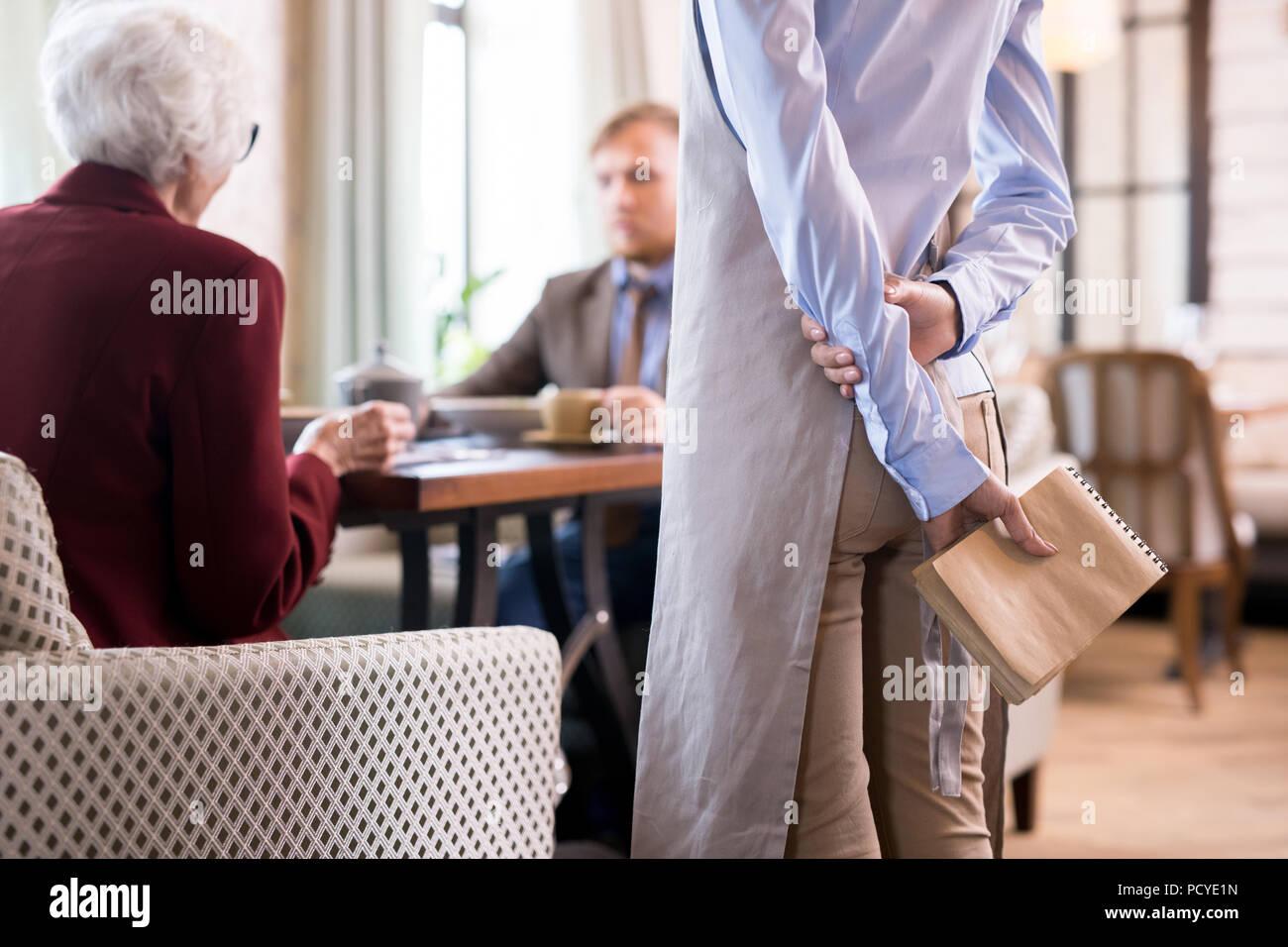 Waiter waiting for order - Stock Image