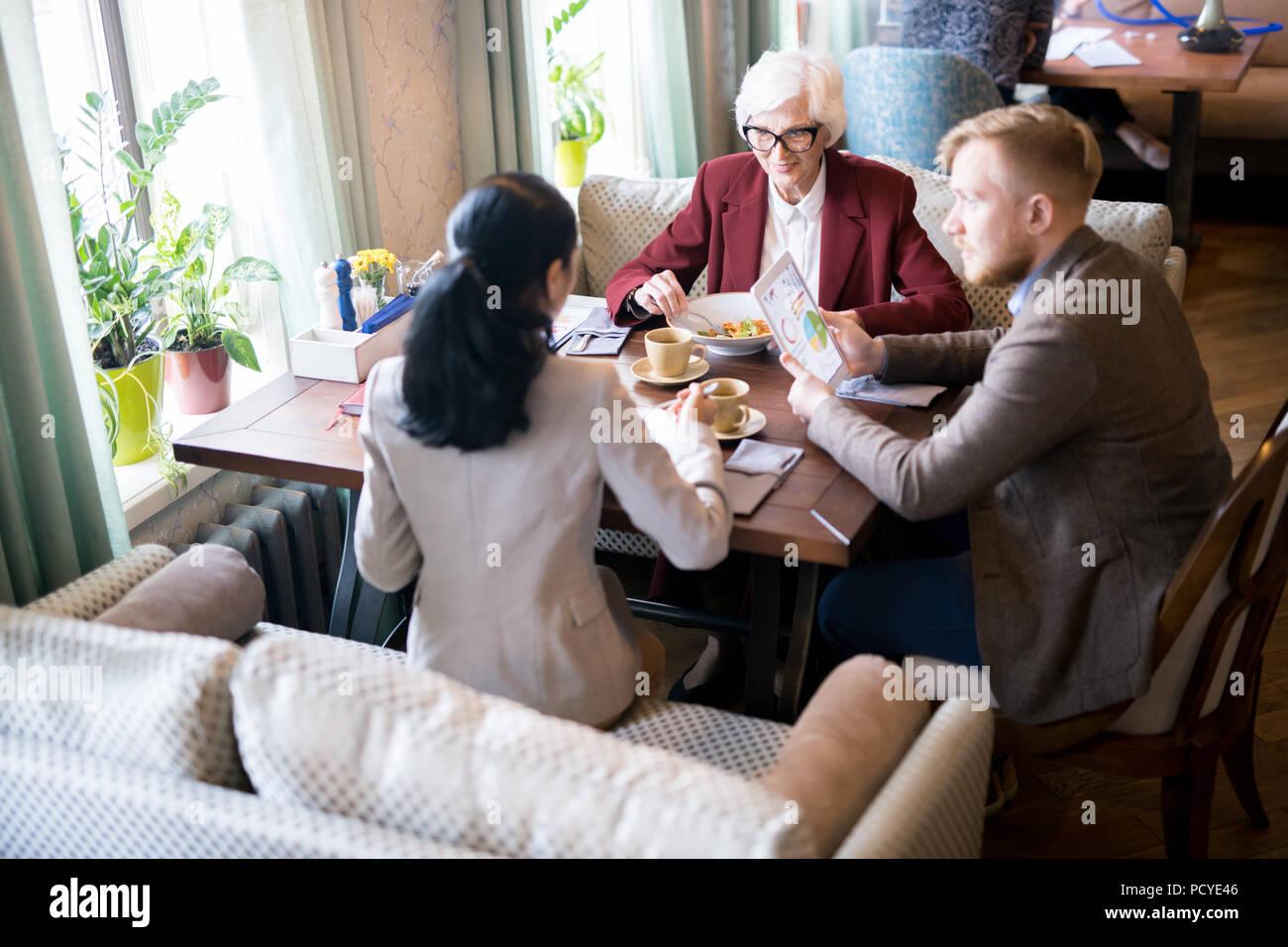 Informal meeting at the restaurant - Stock Image