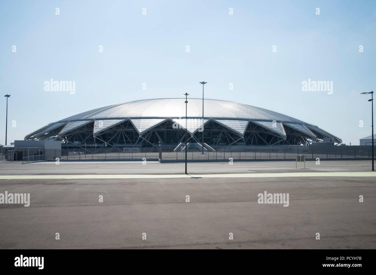 Samara Arena football stadium. Samara - the city hosting the FIFA World Cup in Russia in 2018. - Stock Image