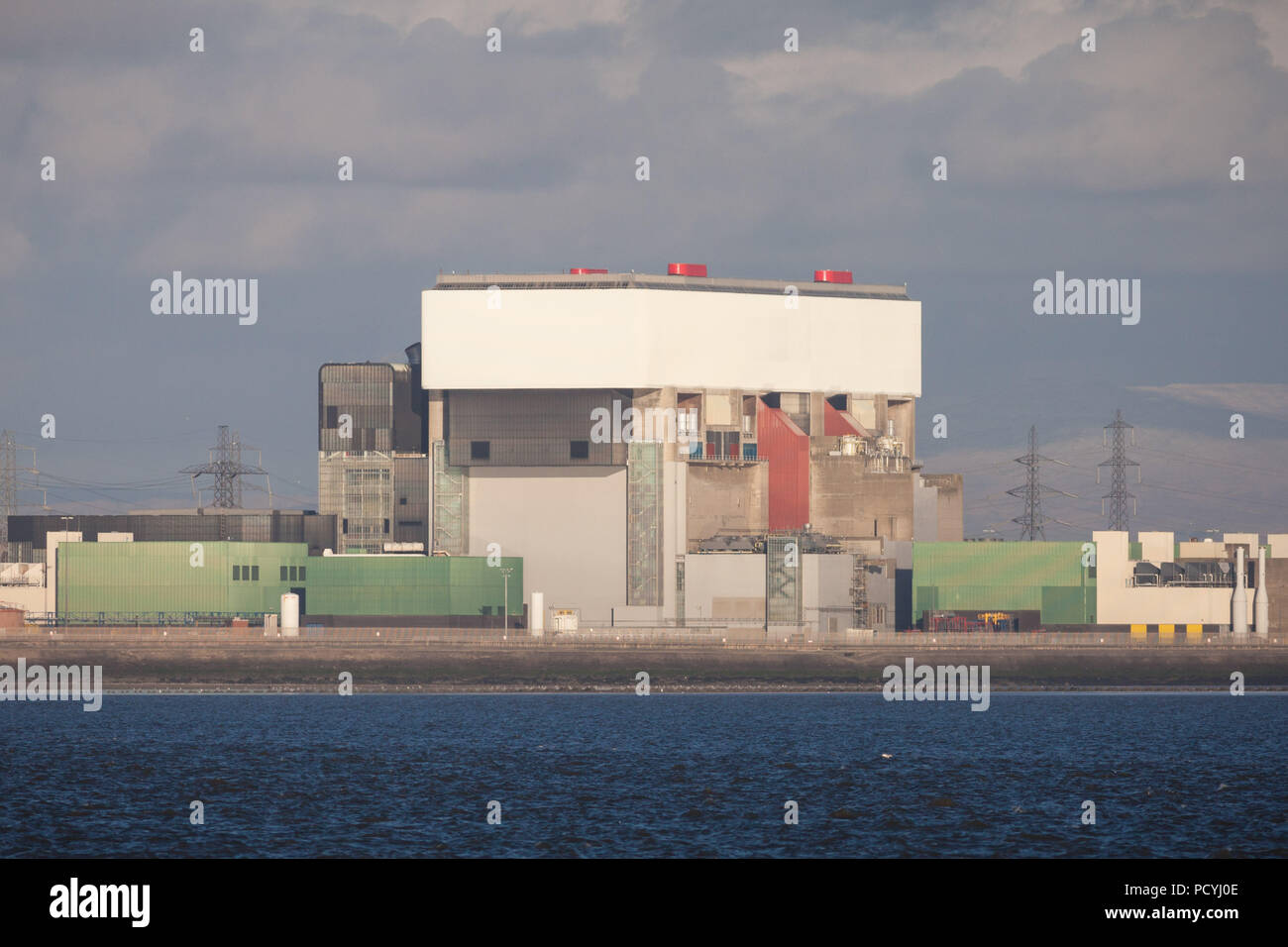 Heysham Two (2) Nuclear Power Station in Lancashire Stock Photo