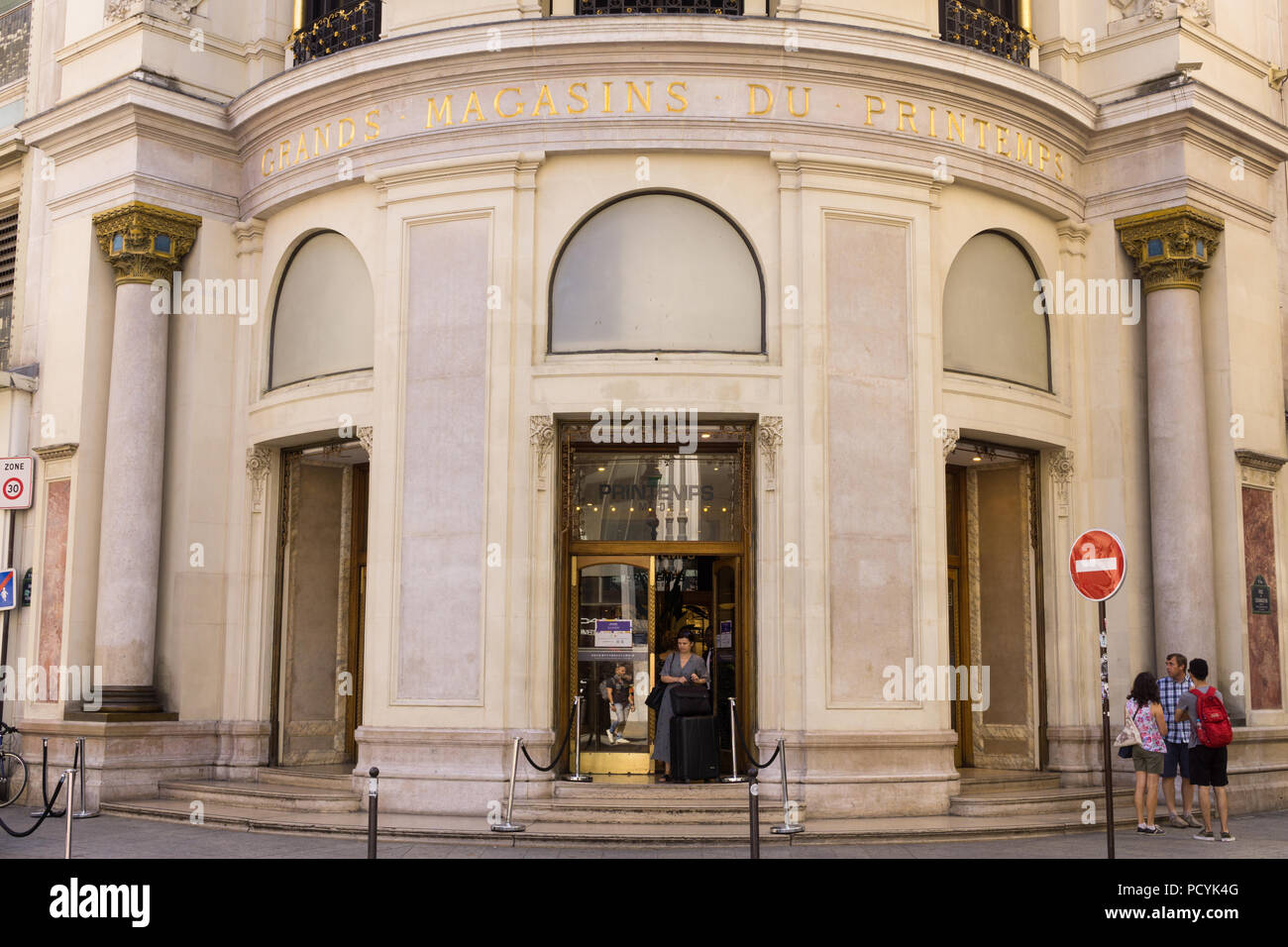 Printemps department store in the 9th arrondissement in Paris, France. - Stock Image