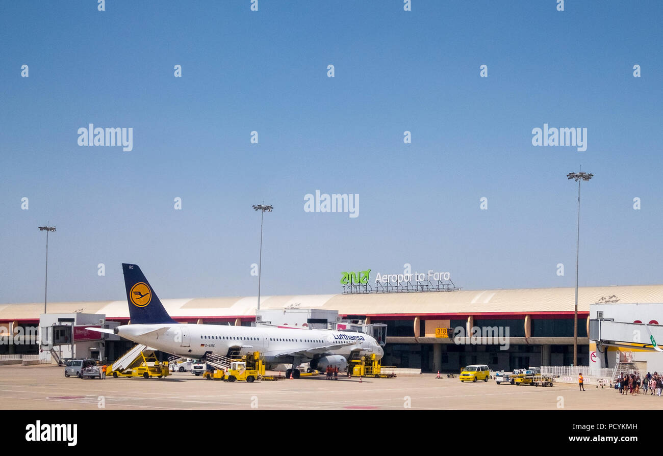 Faro Airport in Portugal - Stock Image
