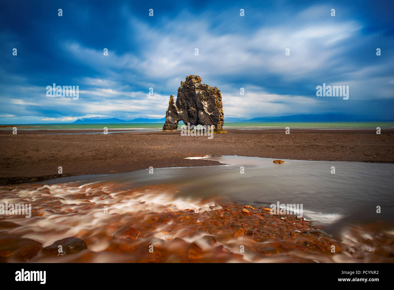 Hvitserkur rock in Iceland - Stock Image