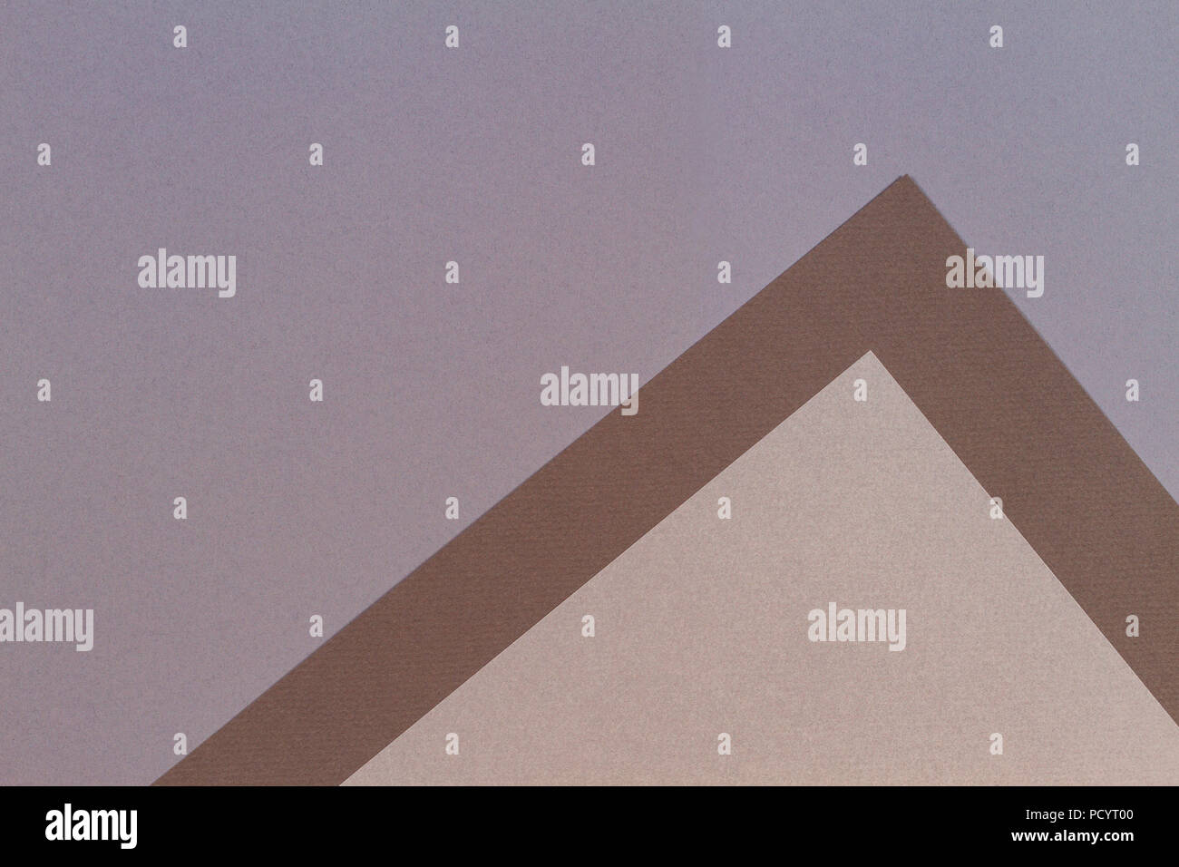 Color papers geometry composition background with gray beige and brown tones Stock Photo