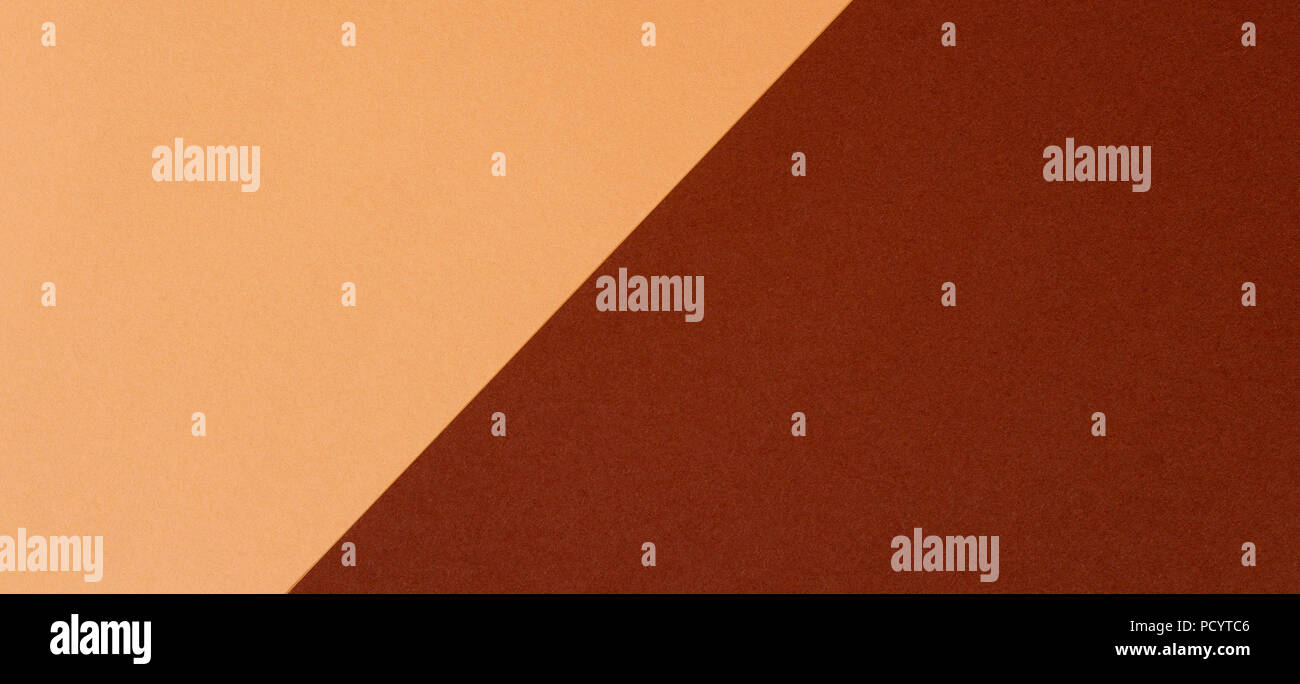 Color papers geometry composition background with beige and brown tones - Stock Image