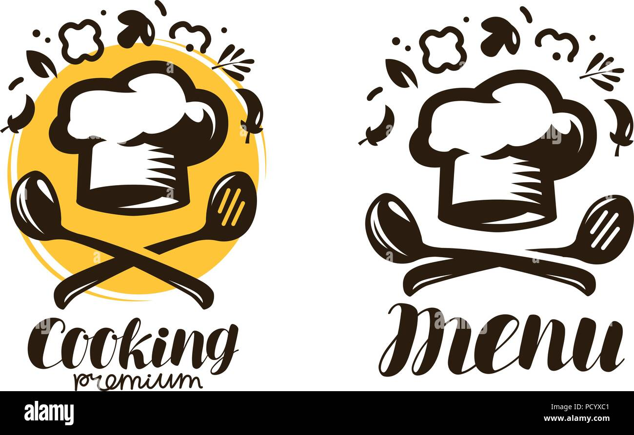 cooking, cuisine logo. labels for the menu of restaurant or cafe