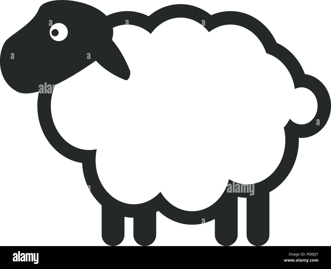 Sheep logo icon template Stock Vector Art & Illustration
