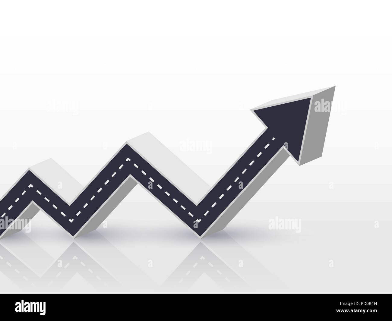 3d arrow road growth up concept infographic template for business infographic template for business background vector eps 10 wajeb Choice Image