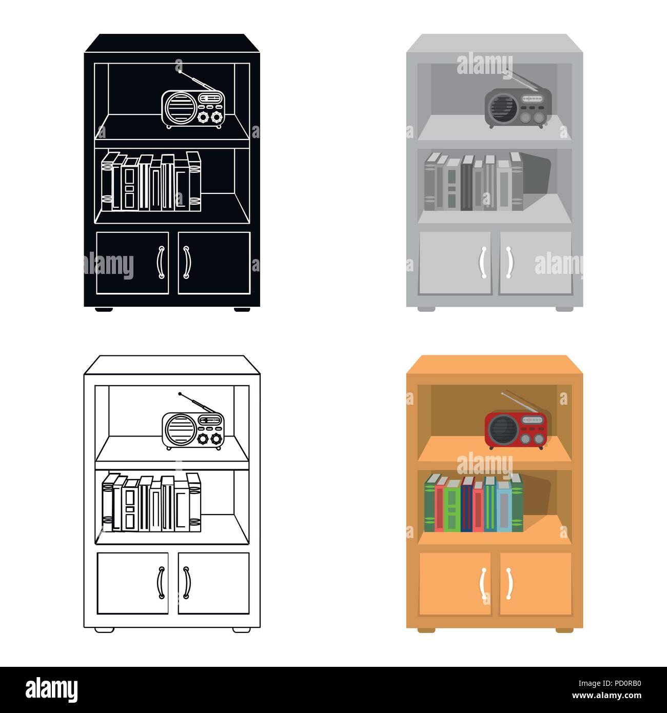 Book Bookcase Books Cabinet Cartoon Convenience Design