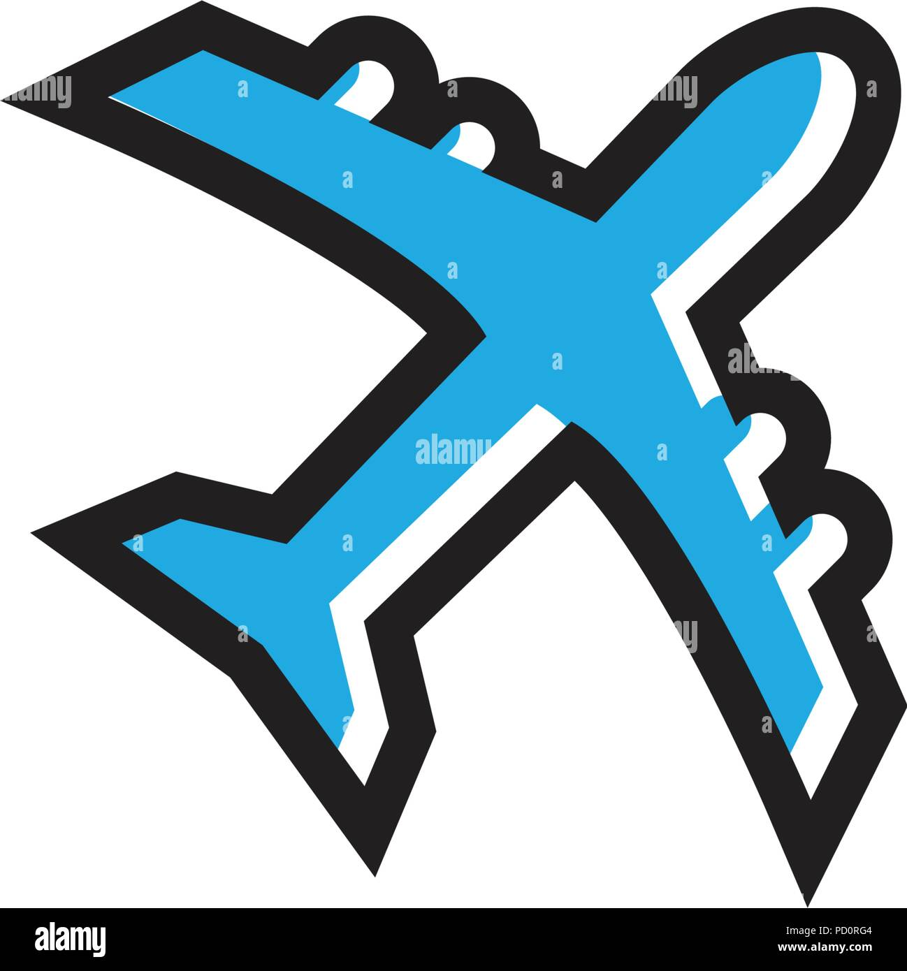 Illustration of aero plane graphic template vector - Stock Vector