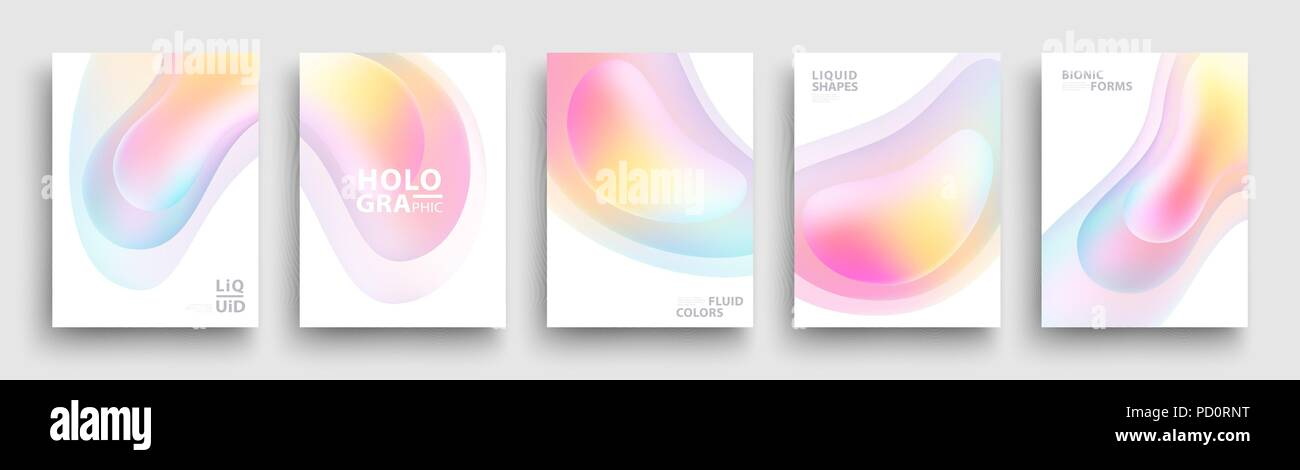 modern covers template design fluid colors set of trendy