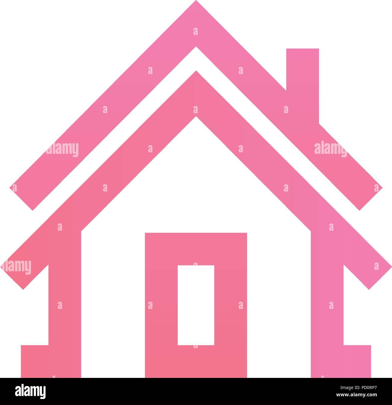 House Building Contour Outline Vector Stock Photos & House Building ...
