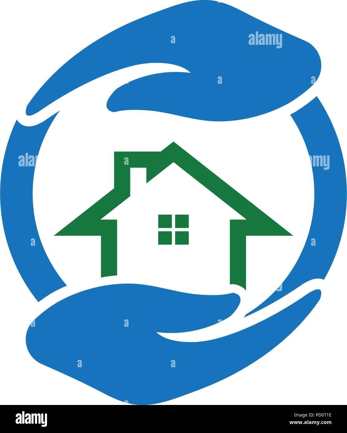 Home Care Logo Icon Template Stock Vector Image Art Alamy