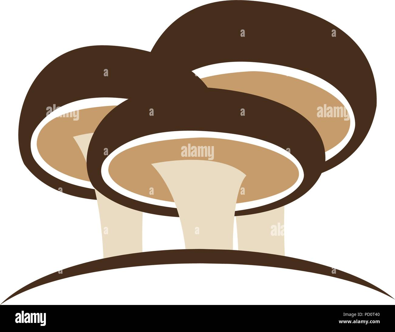 shiitake mushroom logo design concept template vector stock vector