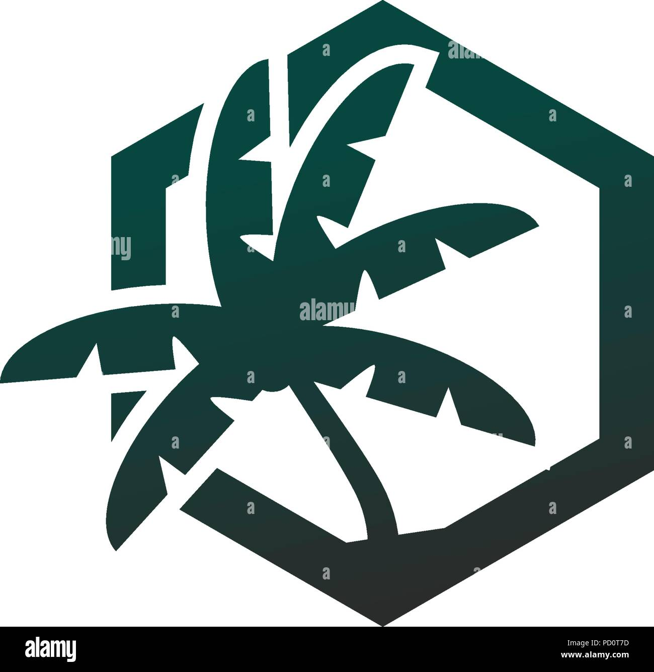 palm tree logo design concept vector template stock vector art