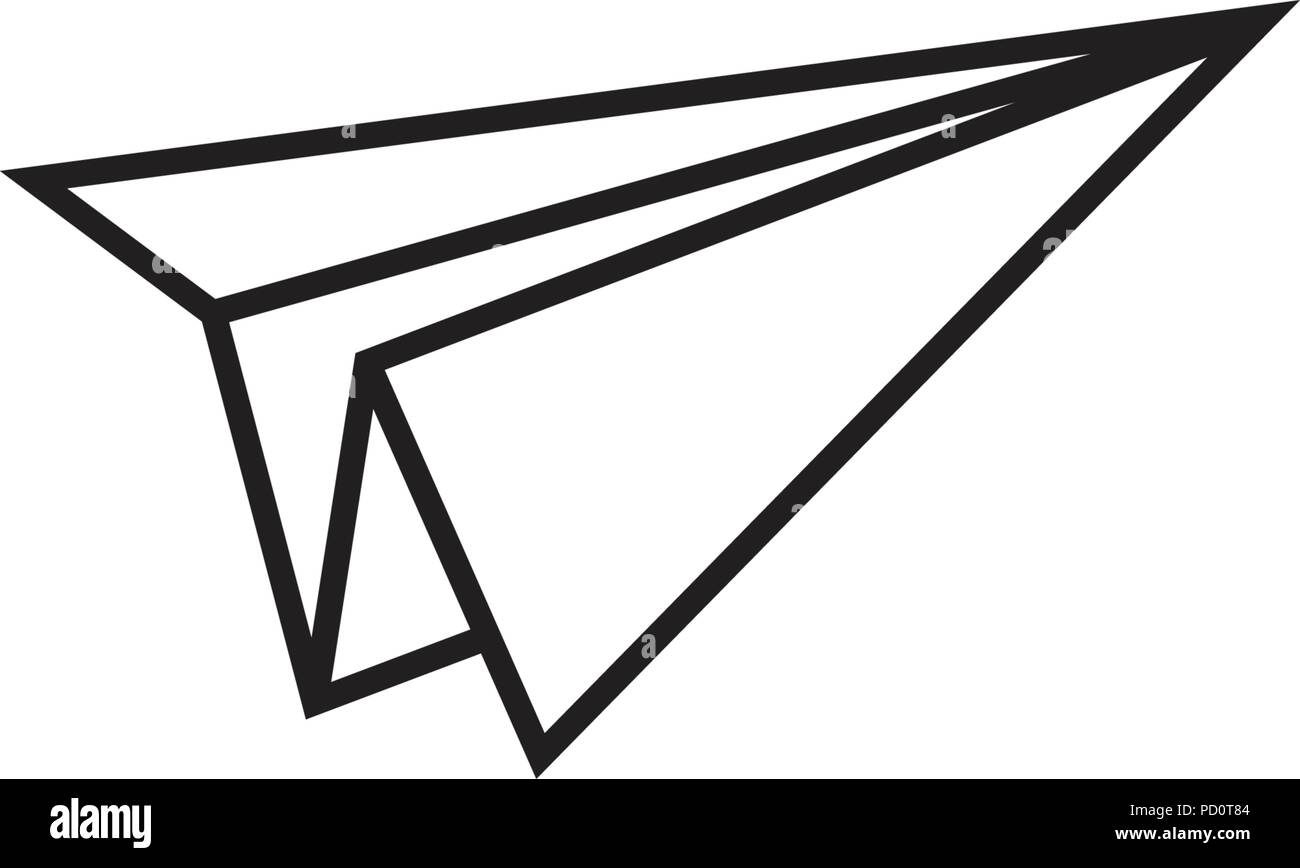 Illustration of paper plane graphic template vector - Stock Image