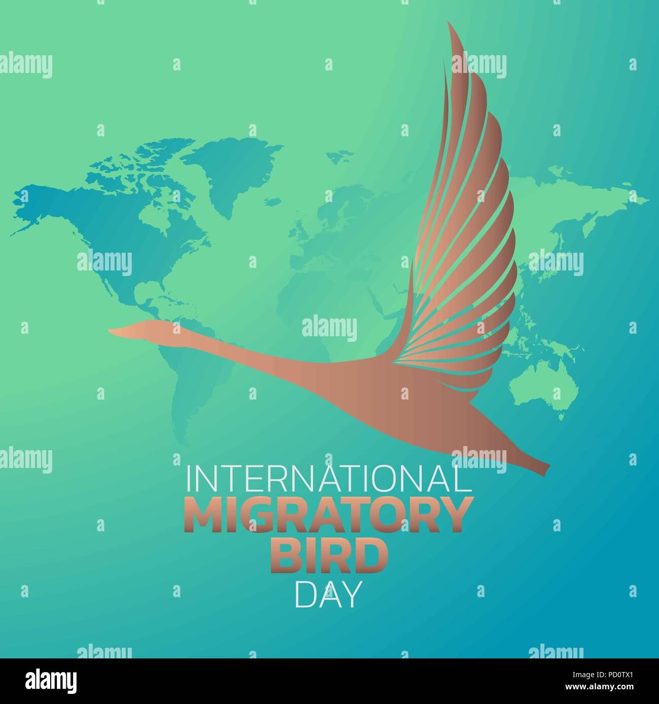 International Migratory Bird Day logo icon design, vector illustration - Stock Vector