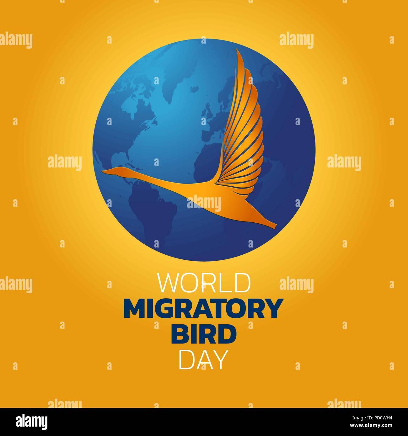 World Migratory Bird Day, vector illustration - Stock Vector