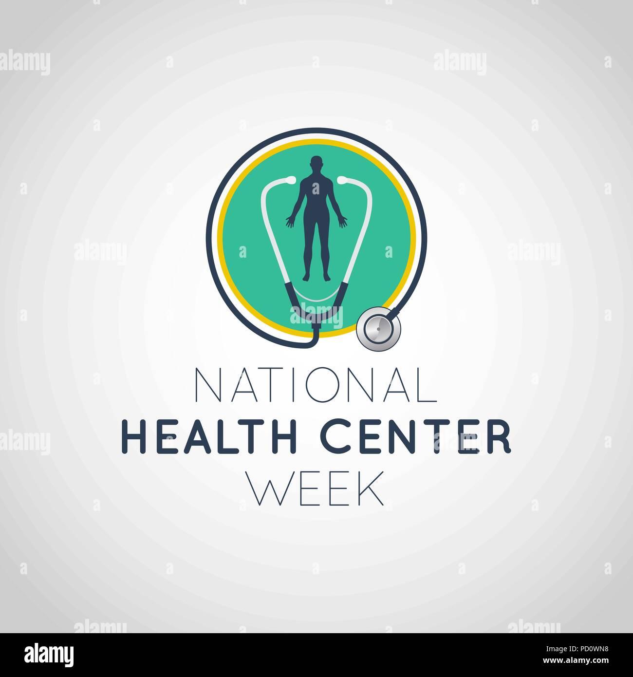National Health Center Week vector logo icon illustration - Stock Vector