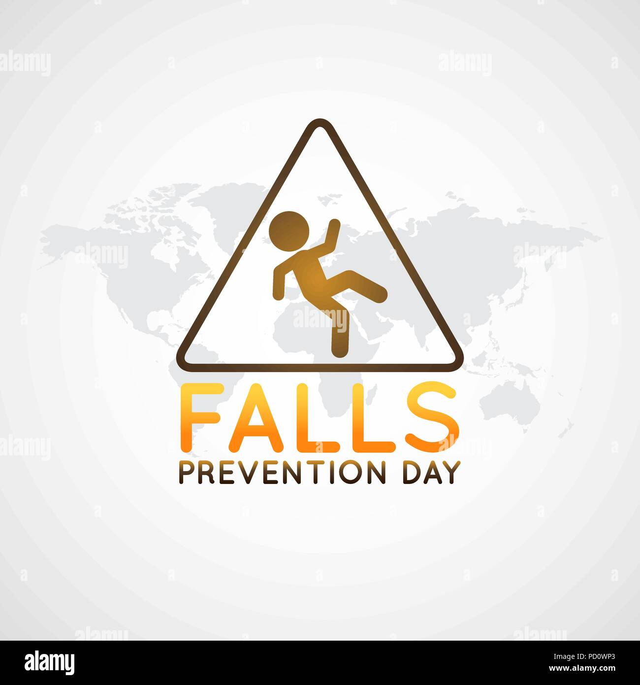 Falls Prevention Day vector logo icon illustration - Stock Vector