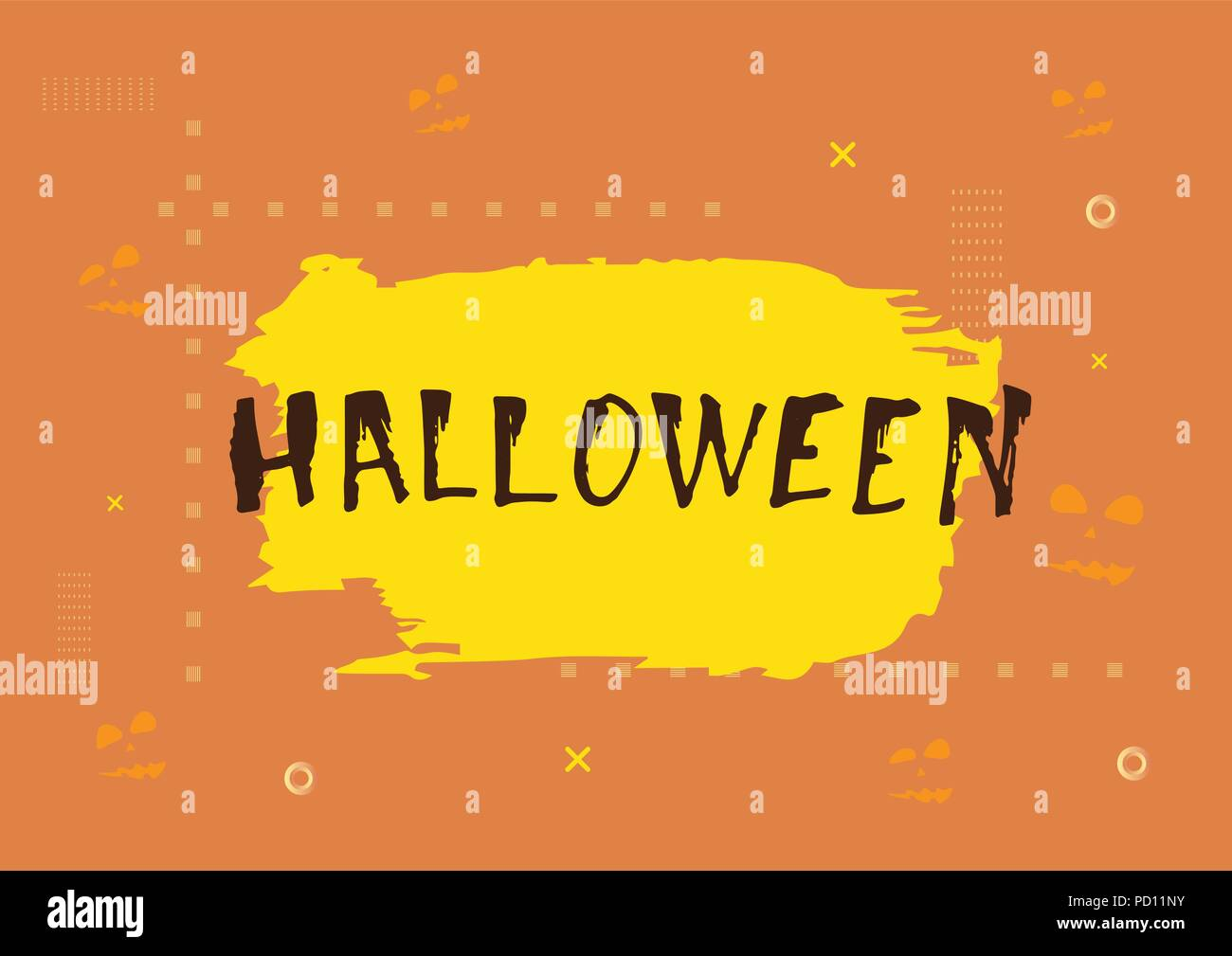 vector halloween card with decoration happy halloween flyer