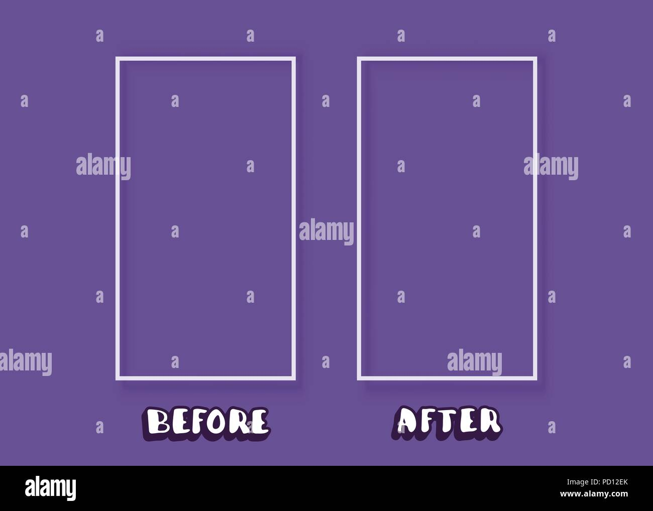 Template Before And After Background Comparison Card With Frames