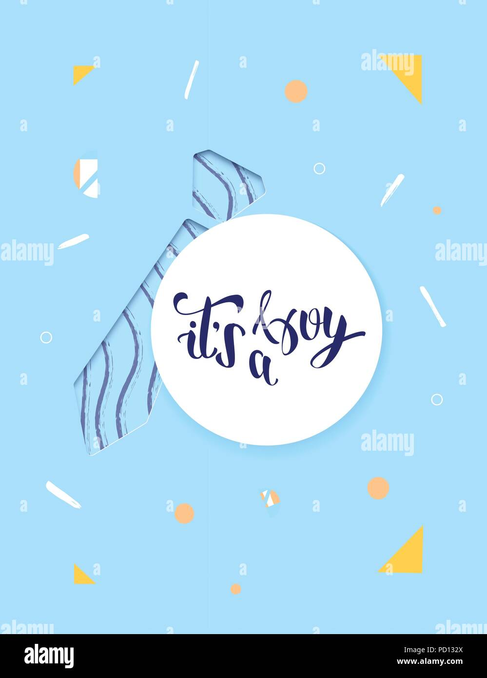 It S A Boy Baby Shower Invitation Template Handwritten Lettering