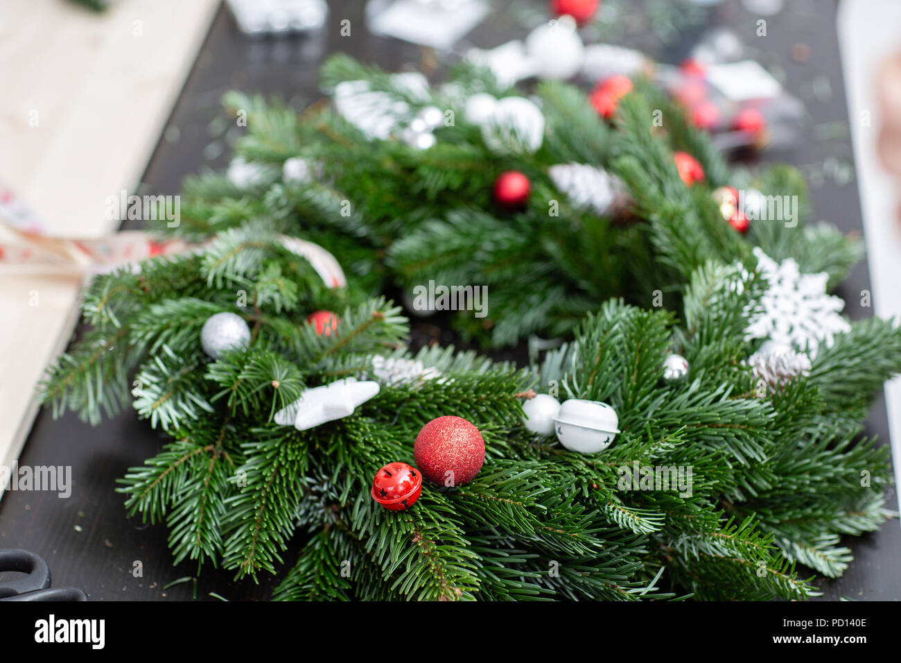 Manufacturer Of Christmas Wreath From Branches Of Pine For Holiday