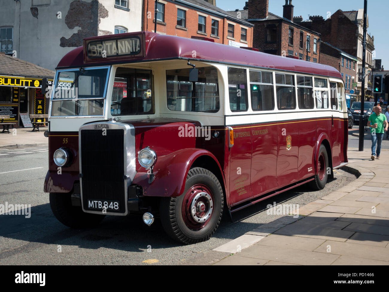 Rawtenstall Corporation Transport 5 Bus in Bury, England. - Stock Image