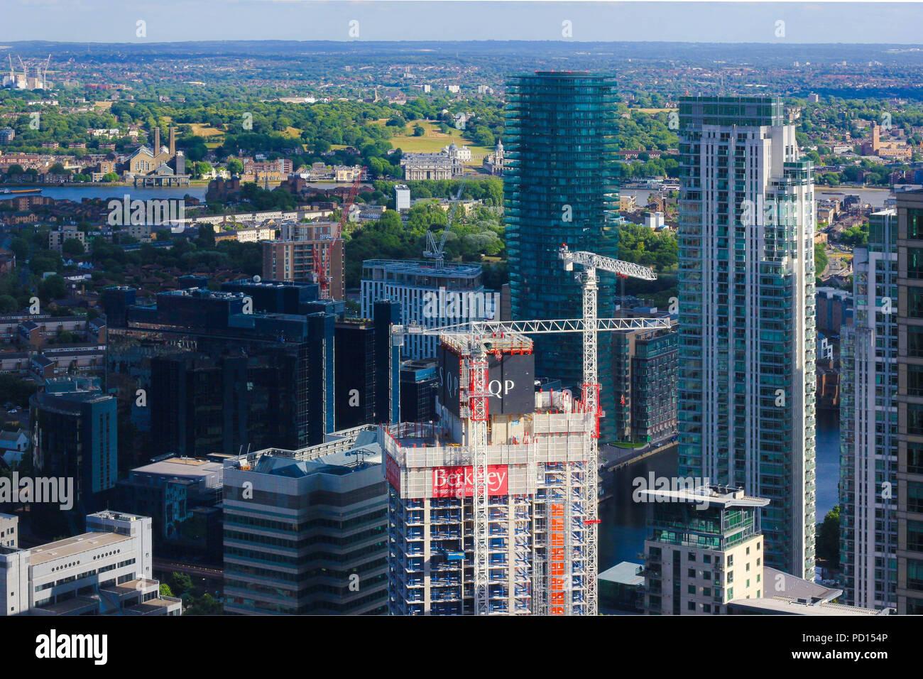 Canary Wharf's neighbourhood - Stock Image
