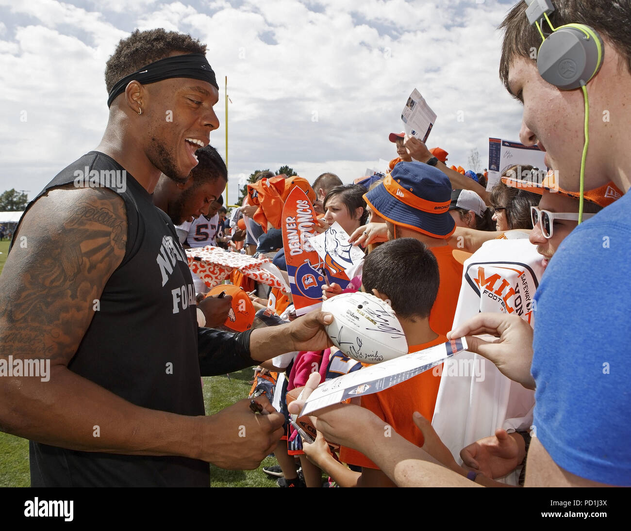 Englewood, Colorado, USA  5th Aug, 2018  Broncos ILB BRANDON