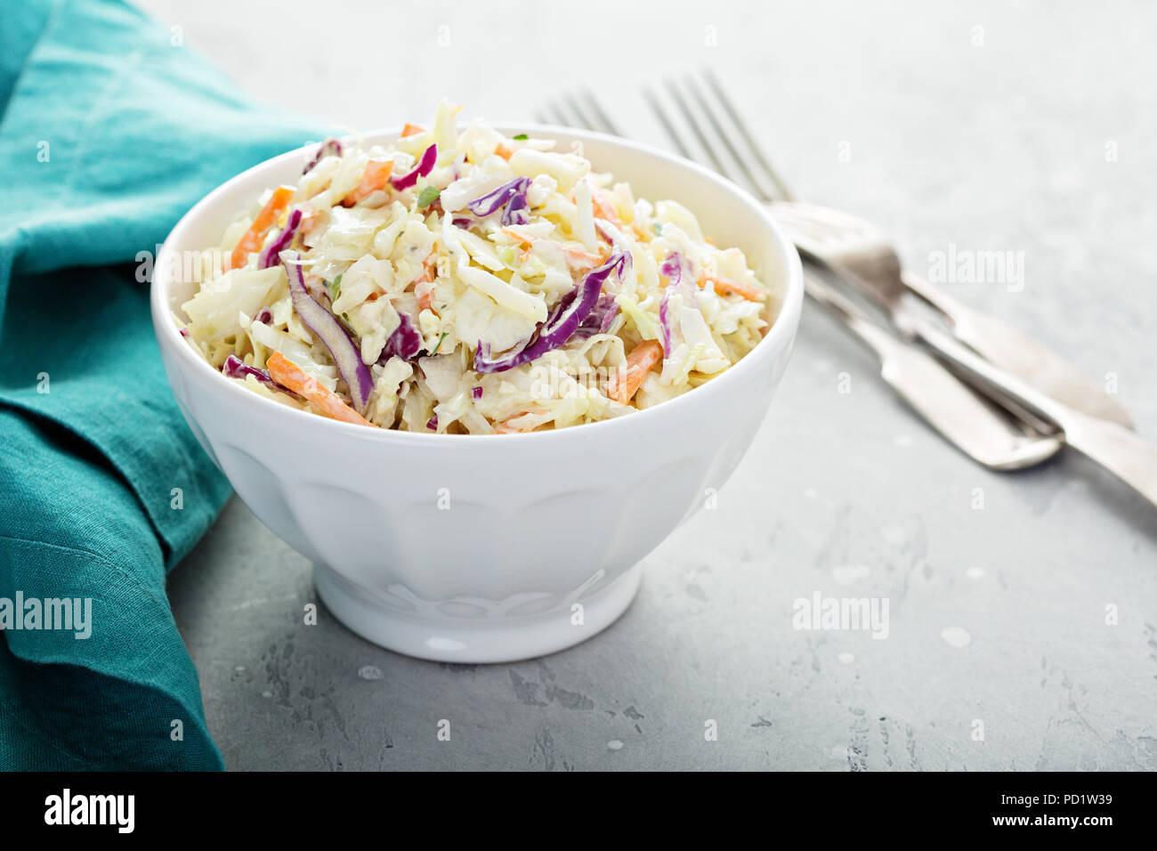 Traditional cole slaw salad - Stock Image