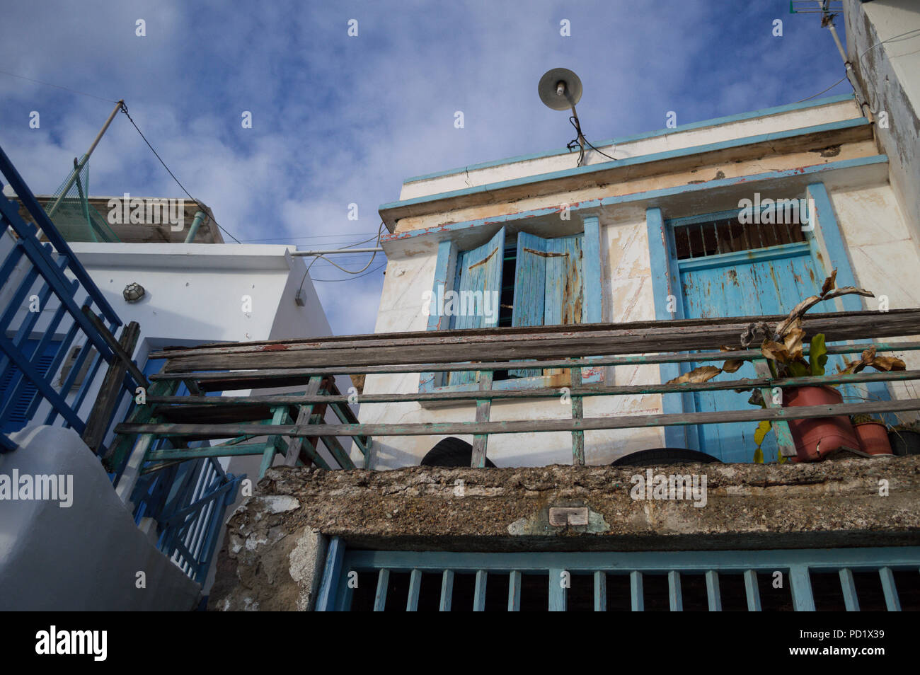 Traditional Greek Fishing Village Houses in Klima, Milos, Cyclades, Greece - Stock Image