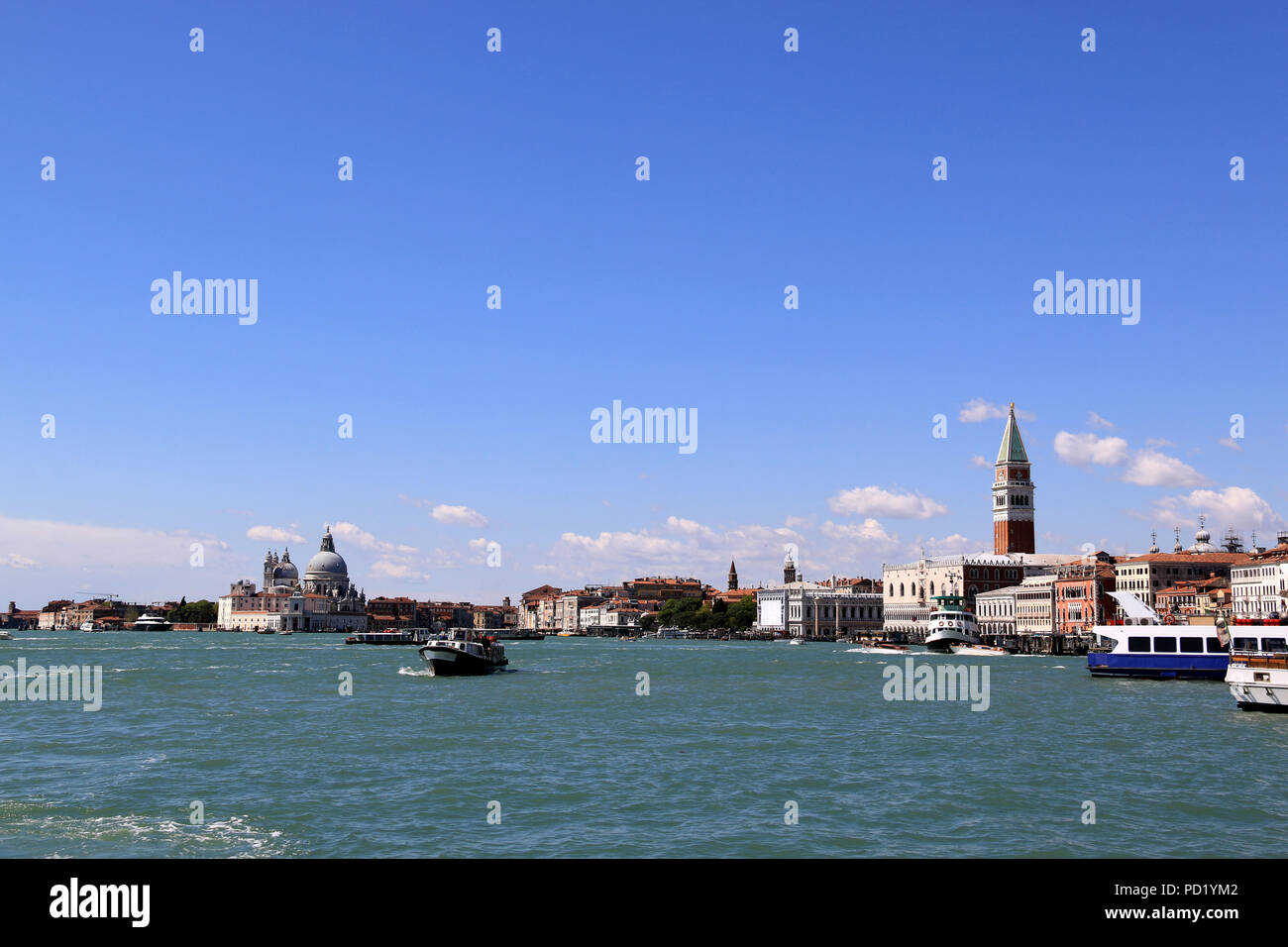 Basilica di Santa Maria della Salute, seen from the Riva degli Schiavoni, the southern Promenade in Venice, Italy Stock Photo