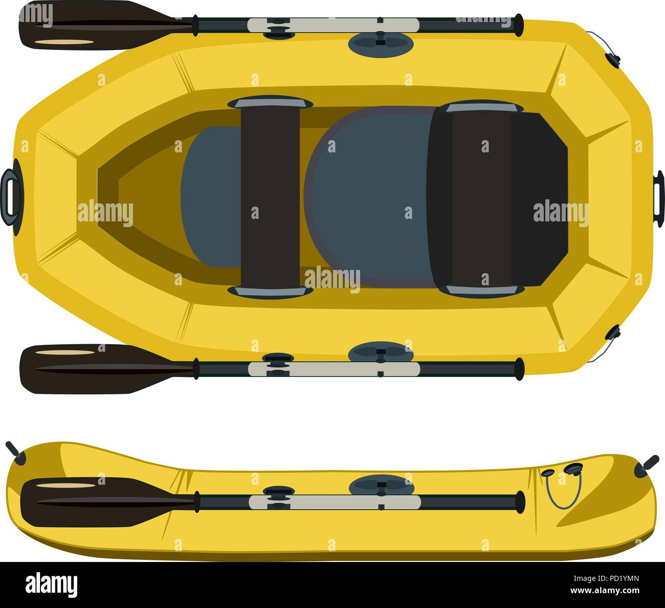 Rafting boat vector flat illustration - Stock Vector
