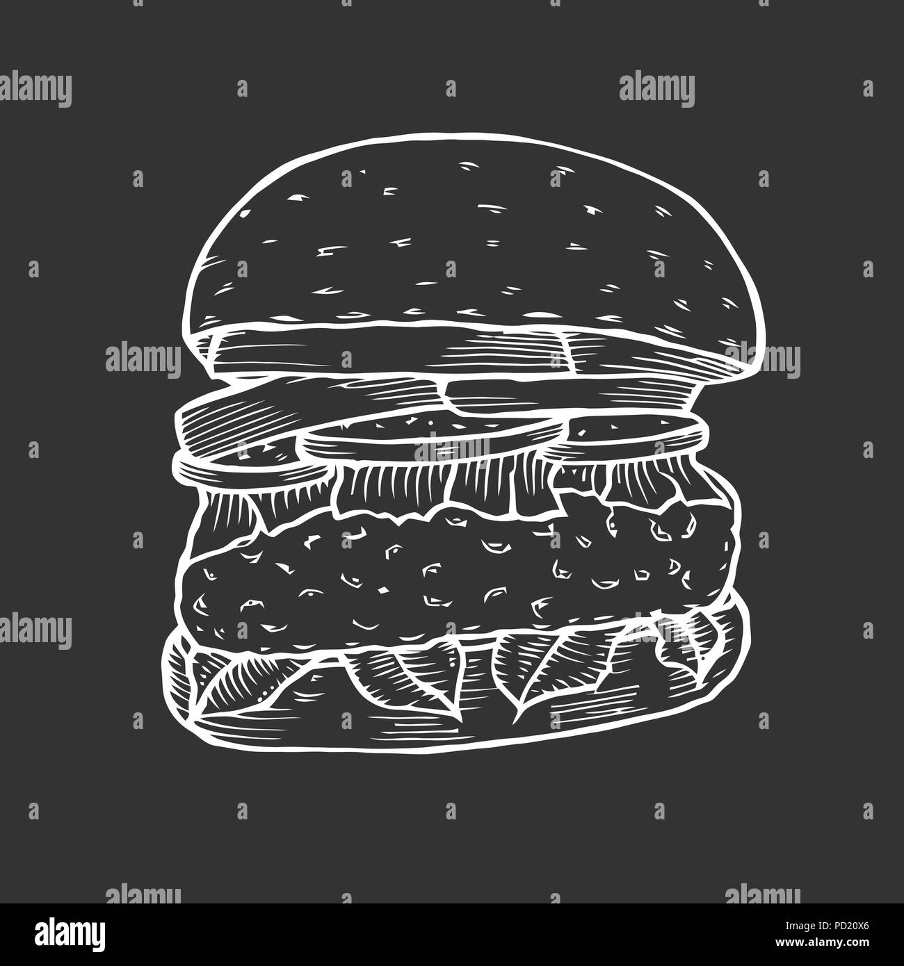 Hamburger Fast food. - Stock Vector