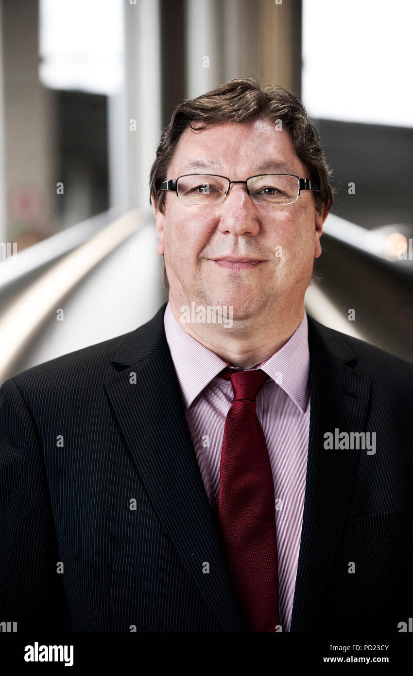 André Schouteet, auditor at Duvel Moortgat nv brewery (Breendonk, 18/03/2011) - Stock Image