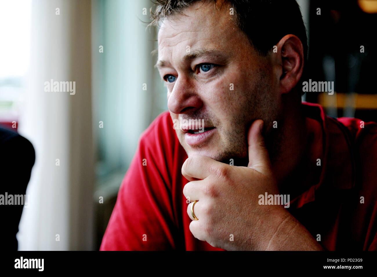 Flemish TV personality Bart De Pauw (Lier, 28/08/2008) - Stock Image