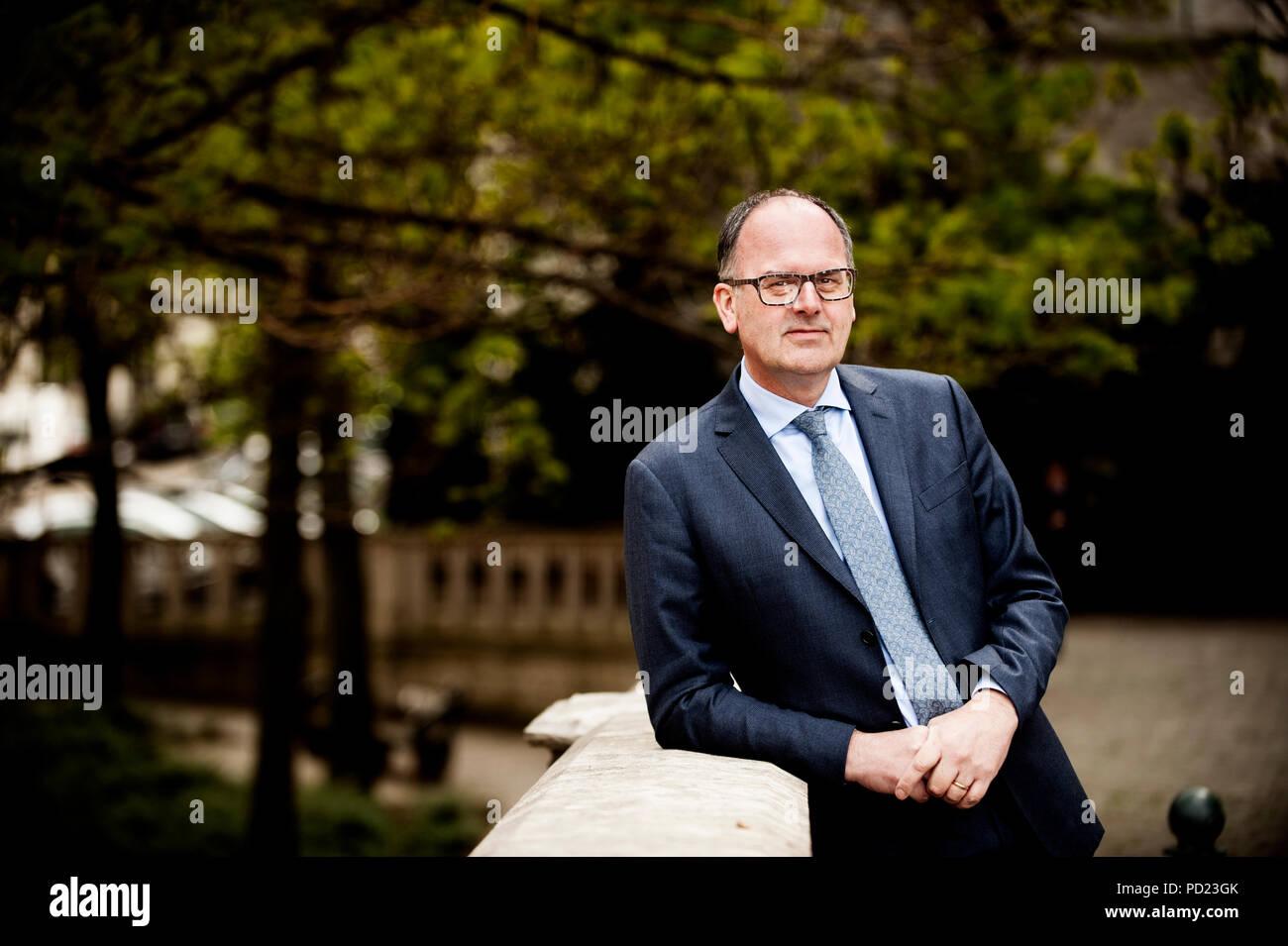 Bart De Smet, CEO from insurance company Ageas (Belgium, 05/04/2017) - Stock Image