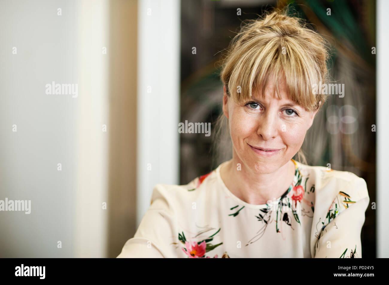 Eva Derous, associate professor in the Department of Personnel Management, Work and Organizational Psychology at Ghent University (Belgium, 25/05/2017 - Stock Image